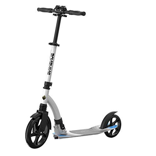 Kick Scooter, Scooter, Opvouwbare Volwassen Jeugd Twee wielen Scooter, Aluminium 23CM Big Wheel Scooter, Stuur Hoogte Verstelbaar (niet-elektrisch)