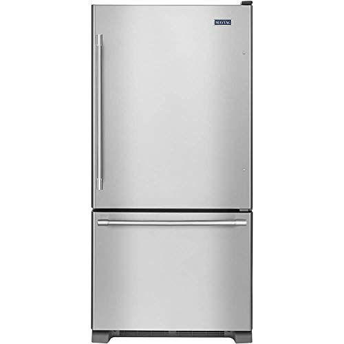 Maytag 22 Cu. Ft. Stainless Steel Bottom Freezer Refrigerator