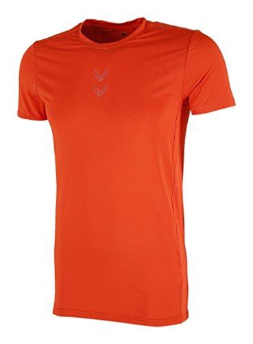 hummel T-Shirt Philip Courtes pour Homme AW15 L Tomate Cerise