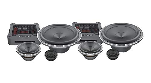"Hertz MPK 163.3 Pro-Kit 3Way Serie Mille de 6,5"" 300W Compuesto 25.3 70.3 + MP 165.3 + MPCX 3.3 + Rejillas, Set de 6"