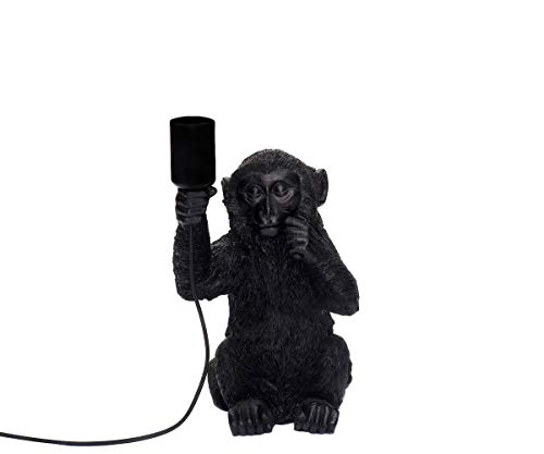 Brillibrum design tafellamp aapje met gloeilamp E27 max 40 watt tafellamp Monkey lamp zittende aap decoratiefiguur 34x20x18 cm