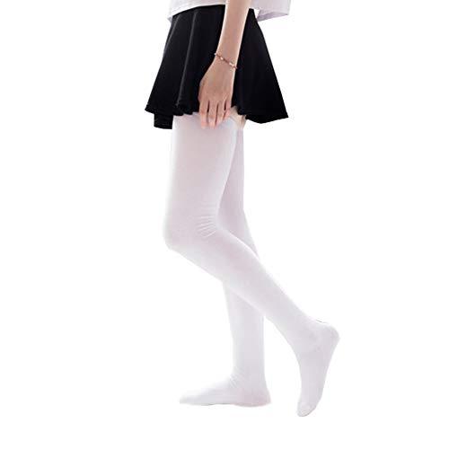 Bakicey Damen Kniestrümpfe Socken Overknee Strümpfe, Mädchen 80cm Strumpfhosen Baumwollstrümpfe Stützkniestrümpfe Gestrickte Strick Socken Hoch Über das Knie Lange Socken Winter Strümpfe (Weiß)