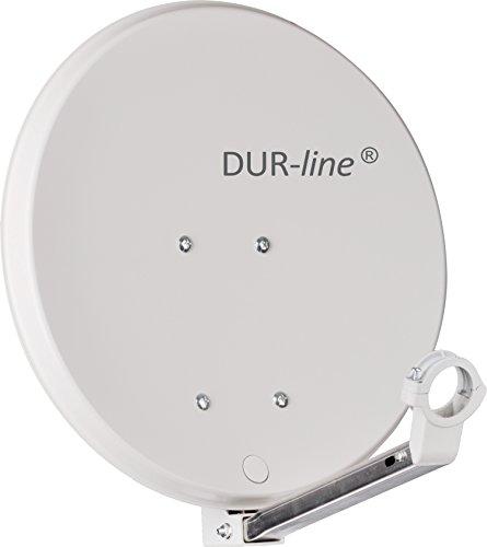 DUR-line DSA 40cm Hellgrau Hochleistungs Hart-Aluminium Spiegel - [Sat-Antenne, Satellitenschüssel, Camping, Balkon, Mini, Boot]