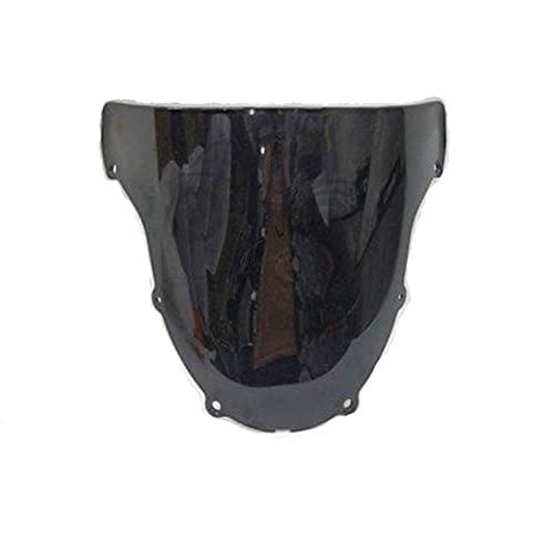 SIWJ Fit For Kawasaki ZX-6R 636 03-04 Parabrisas con Tinte Ahumado Compatible con Divisor De Viento Deflector De Viento para Moto