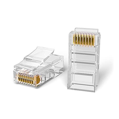 Mr. Tronic Conectores RJ45 | 8P8C | Enchufe Modular (100 Unidades, CAT6 UTP)