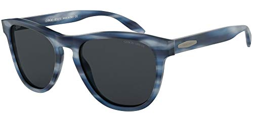 Giorgio Armani 0AR8116 Gafas de sol, Striped Blue, 55 para Hombre