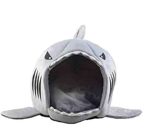 Hondenbed haai muis vorm wasbaar huis huisdier bed kat huis verwijderbaar kussen huisdier bed haai hondenhuis geschikt voor kleine honden