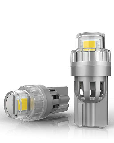 T10 W5W LED Lampadine con Canbus, 6000K Bianco 2-SMD 2835 LED 192 194 168 per luci di posizione targa, interni auto, luce di parcheggio DC 12V, 2 pezzi/lotto