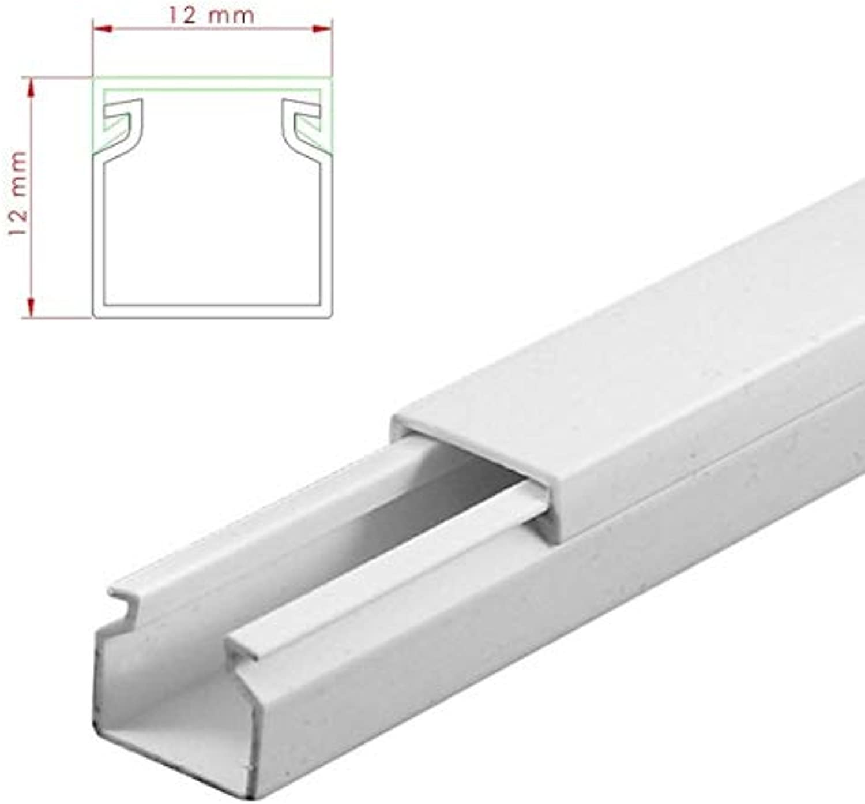 StilBest® 70m Kabelkanal [L x B x H H H 200x1,2x1,2 cm, PVC, Schraubbar, weiß] Kabeldurchführungssystem   Kabelleiste   Kabelschlauch   Kabelrohr B07PNPWYR2 | Neues Produkt  2f4640