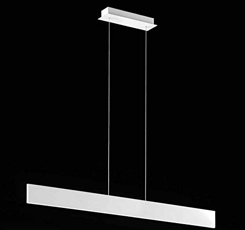PERENZ Lampada da soffitto in metallo Bianco inclusa Luce a Led 23W 2350lm 4000K Misure Lampada 101x8 cm Altezza 150 cm regolabile