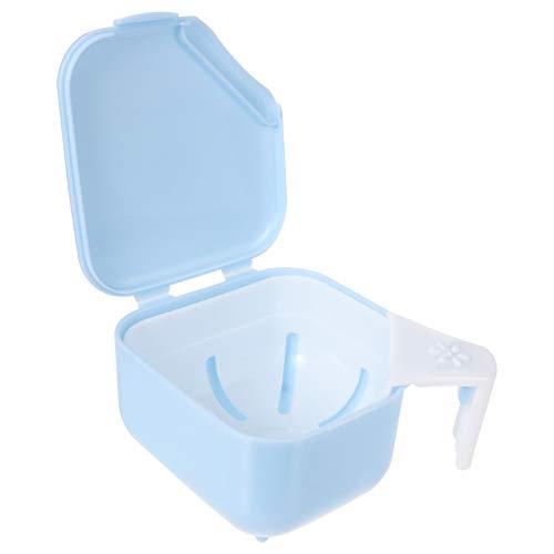 EXCEART Kieferorthopädische Zahnärztliche Aufbewahrungsbox Aufbewahrungsbehälter für Falsche Zähne Aufbewahrungsbox für Falsche Zähne für Die Heimreise 1 Stück (Blau)