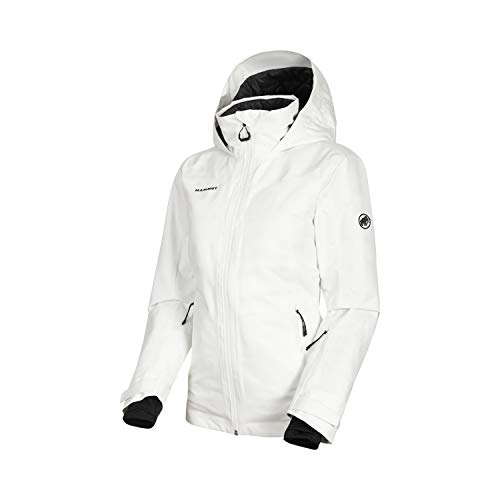 Mammut Damen Scalottas Hooded Hardshell-Jacke mit Kapuze, Bright White, XL