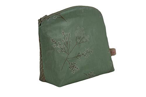 Lilli Löwenherz Kulturtasche Kosmetiktasche Alberte Verte aus beschichteter Baumwolle