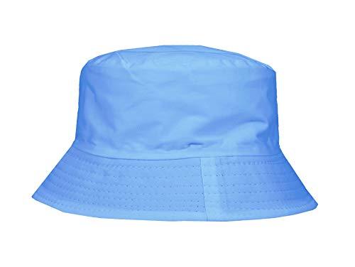 Buckingham Boutique Cappello da Pescatore Unisex, in Cotone, per Bambini, Ideale per l'Estate, la Spiaggia, la Pesca, Lo Sport, l'Escursionismo, in Molti Colori Baby Blue Etichettalia Unica