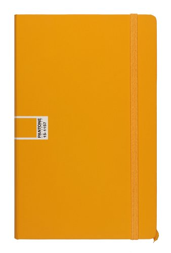 Pantone Universe Crossover Notizbuch, groß, liniert, Orange Flame