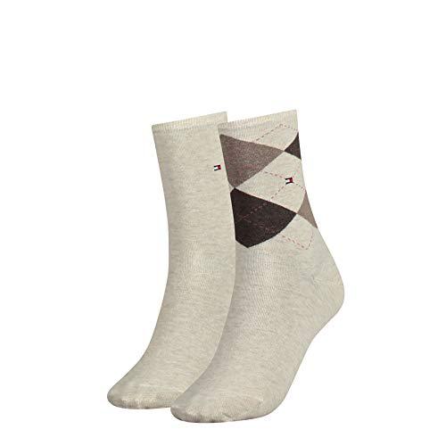Tommy Hilfiger Damen Socken, 2er Pack, Beige (light beige melange 360), 39/42