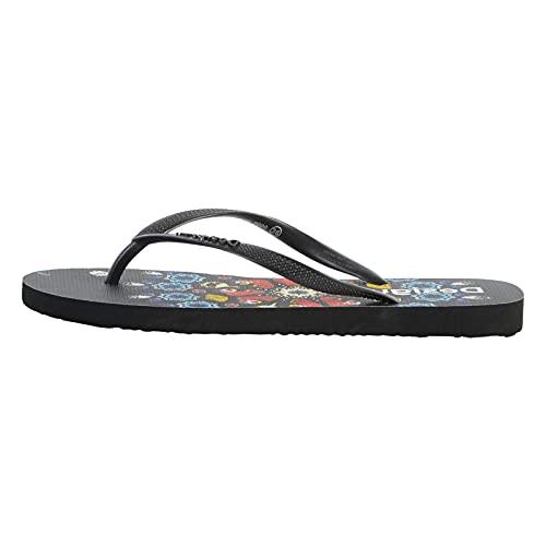 Desigual Damen Shoes_FLIP Flop_BUTTERFL Beach, Black, 39 EU