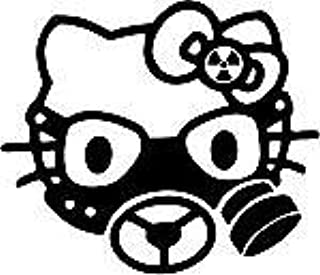 Gas Mask Hello Kitty Face Car Window Wall Macbook Notebook Laptop Sticker Decal