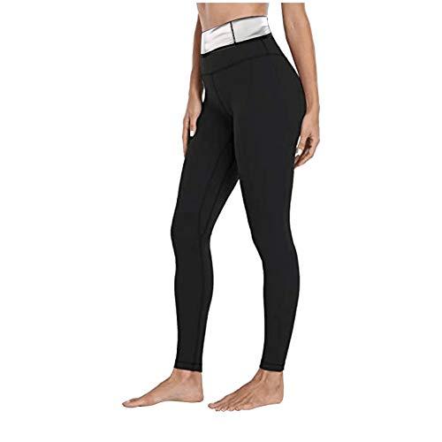 Pantalones Deportivos para Mujer Pantalones de Yoga Pantalones de Fitness Leggings Pantalones de Sauna Que Adelgazan Neopreno CáLido EláStico