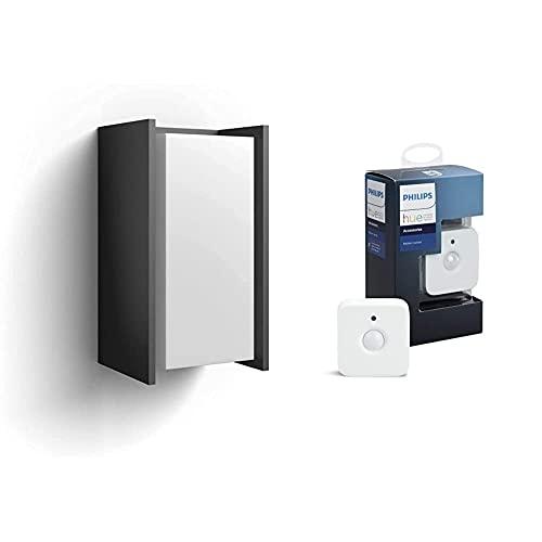Philips Hue Turaco Aplique Inteligente Exterior Led, Luz Blanca Cálida, Compatible Con Alexa Y Google Home + Hue Sensor De Movimiento