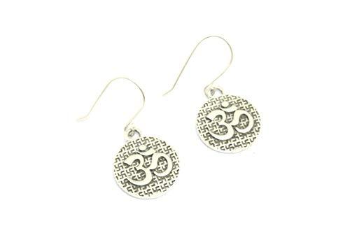Rajasthan Gems - Pendientes colgantes hechos a mano de plata de ley 92