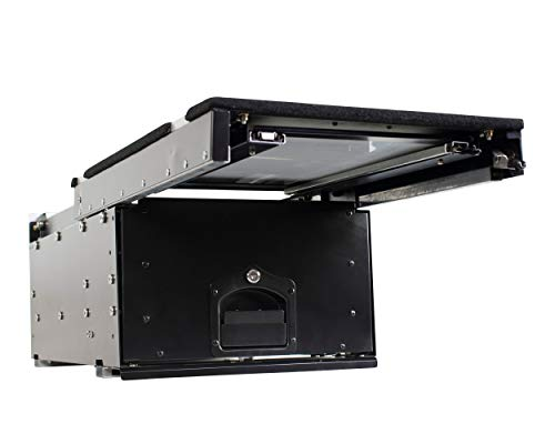 Overland Vehicle Systems Cargo Box With Slide Out Drawer & Working Station Size - Black Powder Coat...
