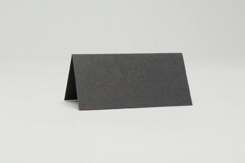50 x Noir mat Place Cartes