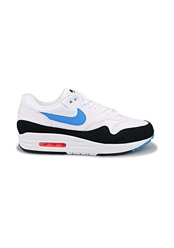 Nike Herren Air Max 1 Leichtathletikschuhe, Mehrfarbig (White/Photo Blue/Total Orange/Black 112), 45 EU