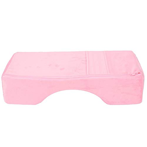 Emoshayoga Almohada de extensión de pestañas Almohada elástica en Forma de U para salón de cosméticos para Uso Profesional para el hogar para la Familia(Pink)