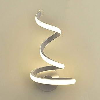 Foto di Modeen Lampada da parete a spirale a LED Semplice e moderna Creatività Lampada da comodino Camera da letto Lampada da parete Lampada da parete in metallo