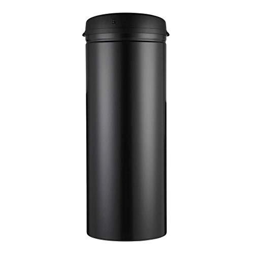 SMEJS Papelera de inducción inteligente para el hogar, sala de estar, dormitorio, baño de plástico con tapa, bote de basura creativo europeo automático (color: negro, tamaño: 50 L)