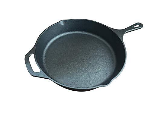 ABO Gear Cast Iron Skillet Cast Iron Pan, 12 Inch Pre Seasoned Skillet Cast Iron Pan