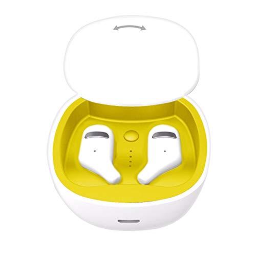Yowablo Ohrhorer in Ear,Ohrhorer Sport,Funk-Kopfhörer,Ear Ohrhörer Kabellos,Drahtloses Bluetooth Headset 5.0 Kopfhörer Sport Mini Earbuds Earphone ( A )