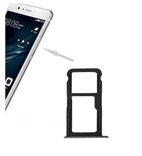 Voor Huawei P10 Lite (Dual Sim WAS-L21) WAS-LX1, WAS-LX1A WAS-L21A; vervanging voor sim-kaarthouder, Nano Sim 1 + vak voor micro-SD-geheugenkaart of Sim 2. Zwarte sleuf voor versie zwart