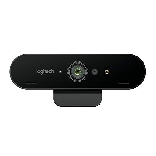 Logitech BRIO ULTRA-HD PRO Webcam, 4K HD 1080p, 5-fach Zoom, Hohe Bildfrequenz, HDR und RightLight 3, USB-Anschluss, Gesichtserkennung mit Windows Hello, Für Skype, Zoom, Cisco, PC/Mac - Schwarz
