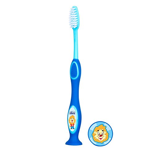 Chicco Toothbrush 3-6 ans Couleur Bleu,