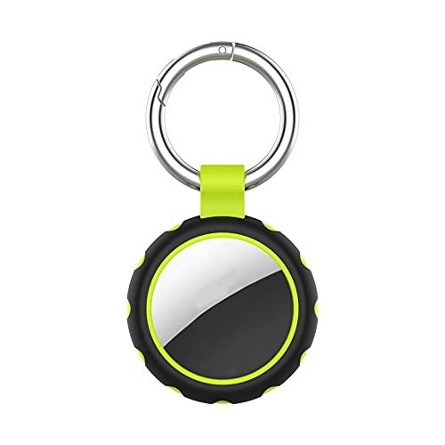 Funda protectora AirTag,funda protectora de silicona suave Apple AirTag con llavero,colgante de posicionamiento portátil resistente al desgaste para seguimiento de posicionamiento anti-pérdida