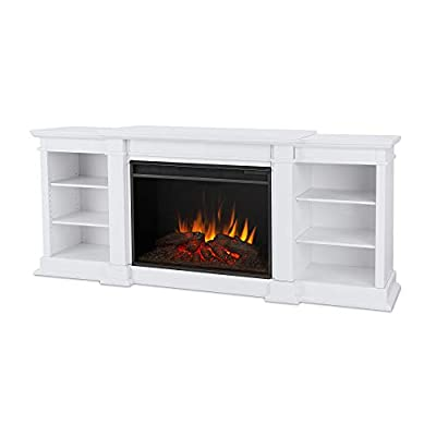Eliot Grand Media Electric Fireplace in White by Real Flame from Real Flame