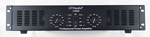 GTD Audio 2 Channel 8500 Watts 2U Stereo Professional Power Amplifier Amp J8500