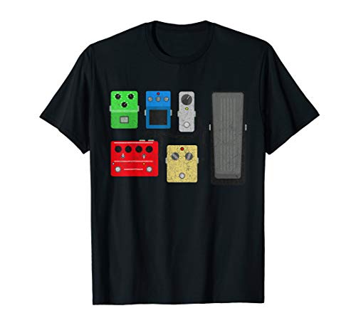 Vintage Gitarre Effektpedal Shirt