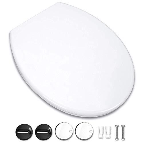 Abattant WC, Omasi Siège de Toilette avec Blocage Rapide, Abattant pour wc une Installation et un Nettoyage Faciles (Forme O)