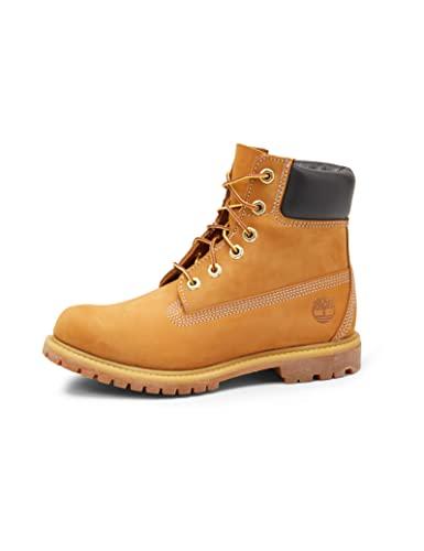 """Timberland Women's 6"""" Premium Waterproof Boot, Wheat Nubuck, 8.5 W US"""