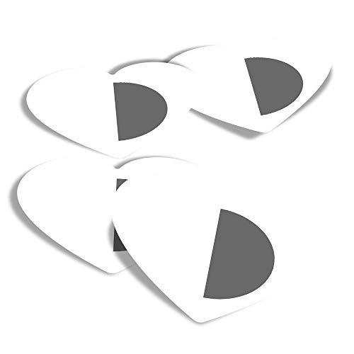 Vinyl Heart Stickers (Set of 4) - BW - Malta Flag Fun Decals for Laptops,Tablets,Luggage,Scrap Booking,Fridges #41739