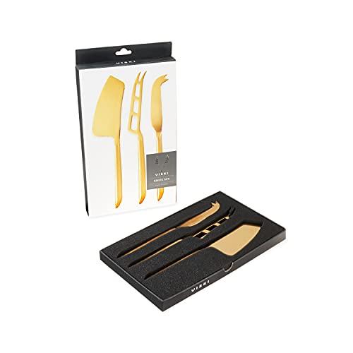 Belmont Gold Plated Knife Set by Viski
