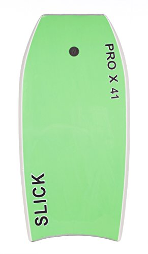 "Heat Sealed Legendary Pro X Bodyboard Hard Slick Printed (Gray/Green, 45"")"