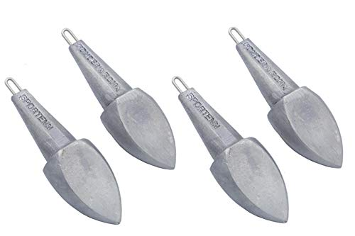 Plomo Sportenn - Anillo Inoxidable, 125 g, Paquete de 4 Unidades