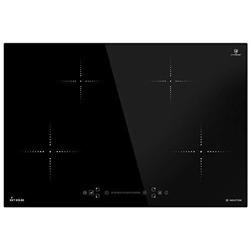 Induktionskochfeld 77cm (Autark, 7,2kW, 9 Stufen, 4 Zonen, Rahmenlos, TouchSelect Sensortasten, Slider-Steuerung, Booster, LED-Anzeige) IND8000RL - KKT KOLBE