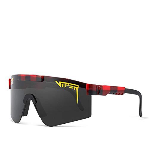 BGRFT Gafas de sol Pit Viper Gafas de sol polarizadas de doble ancho con espejo azul Tr90 Marco Protección Uv400 Gafas de sol deportivas de ciclismo C19