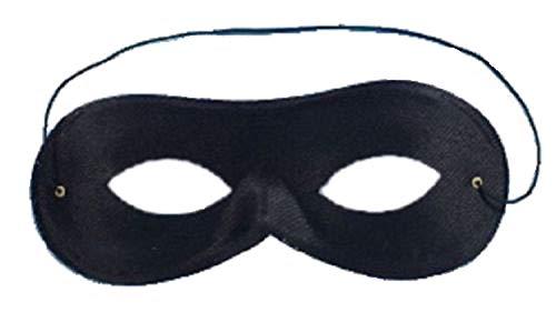 The Dragons Den Masque de déguisement Super-héros noir Noir taille unique