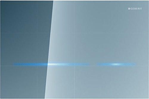 Geberit 116090SM1 Abdeckplatte SIGMA 80 116.090.SM.1 mit Betätigung von vorne, 2-Mengenspülung Glas verspiegelt